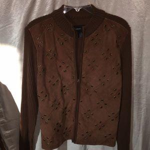 Robert Louis Medium Suede Sweater Jacket
